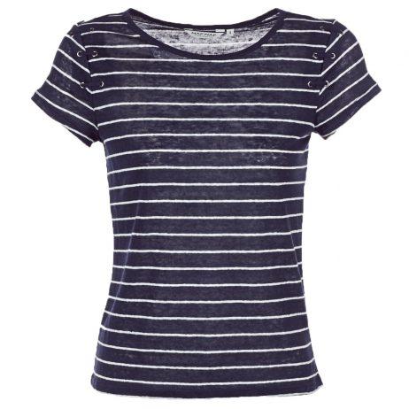 T-shirt donna Naf Naf  OFELIA  Blu Naf Naf 3606846337088