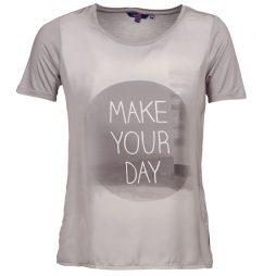 T-shirt donna Tom Tailor  CENEK  Grigio Tom Tailor 4055753852822