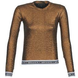 T-shirts a maniche lunghe donna American Retro  ALLAN  Oro American Retro 3661717394935