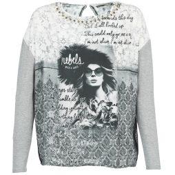 T-shirts a maniche lunghe donna Gaudi  BLINI  Grigio Gaudi 8055350969172