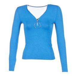 T-shirts a maniche lunghe donna Morgan  TBA  Blu Morgan 3253632388146
