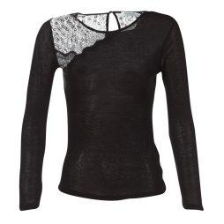 T-shirts a maniche lunghe donna Morgan  TELA  Nero Morgan 3253632404662