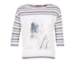 T-shirts a maniche lunghe donna S.Oliver  JIVATOULE  Bianco S.Oliver 4058216276128