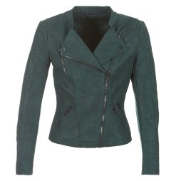Giacca in pelle donna Only  ONLAVA  Verde Only 5713745349666