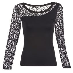 T-shirts a maniche lunghe donna Morgan  TCOUPO  Nero Morgan 3253632189262