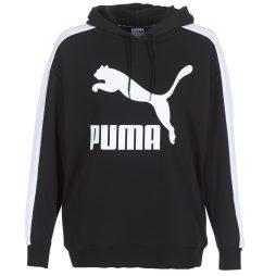 Felpa donna Puma  CLASSICS LOGO T7 HOODY  Nero Puma 4059506655746