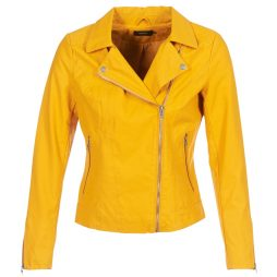 Giacca in pelle donna Only  ONLSAGA  Giallo Only 5713741198954