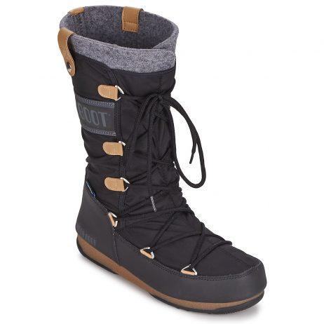 Scarpe da neve donna Moon Boot  MOON BOOT MONACO FELT  Nero Moon Boot 8034033891832
