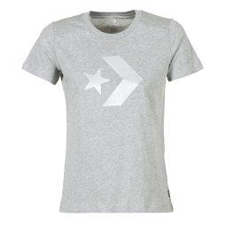 T-shirt donna Converse  CONVERSE STAR CHEVRON METALLIC CREW TEE  Grigio Converse 888755708798