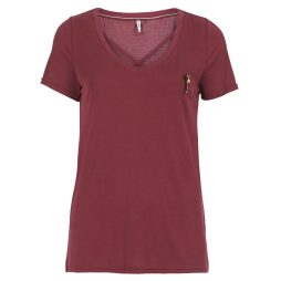 T-shirt donna Only  ONLMILLE  Rosso Only 5713748913734