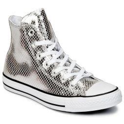 Scarpe donna Converse  CHUCK TAYLOR ALL STAR METALLIC SNAKE LEATHER HI  Argento Converse 888754270746