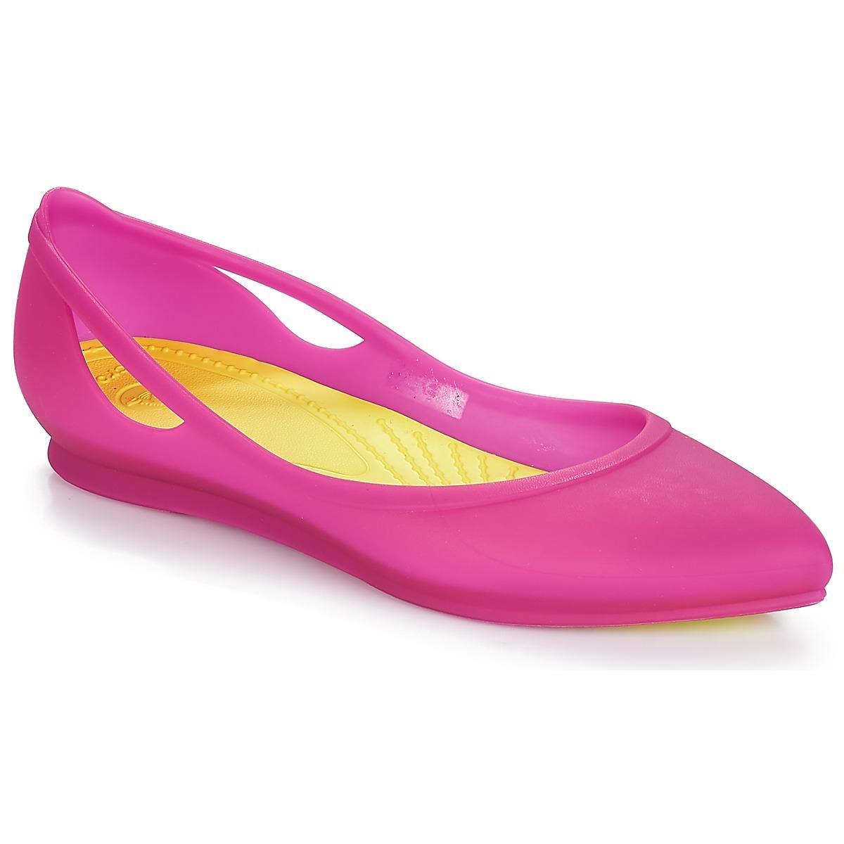 Ballerine donna Crocs  CROCSRIOFLATW  Rosa Crocs 887350357509