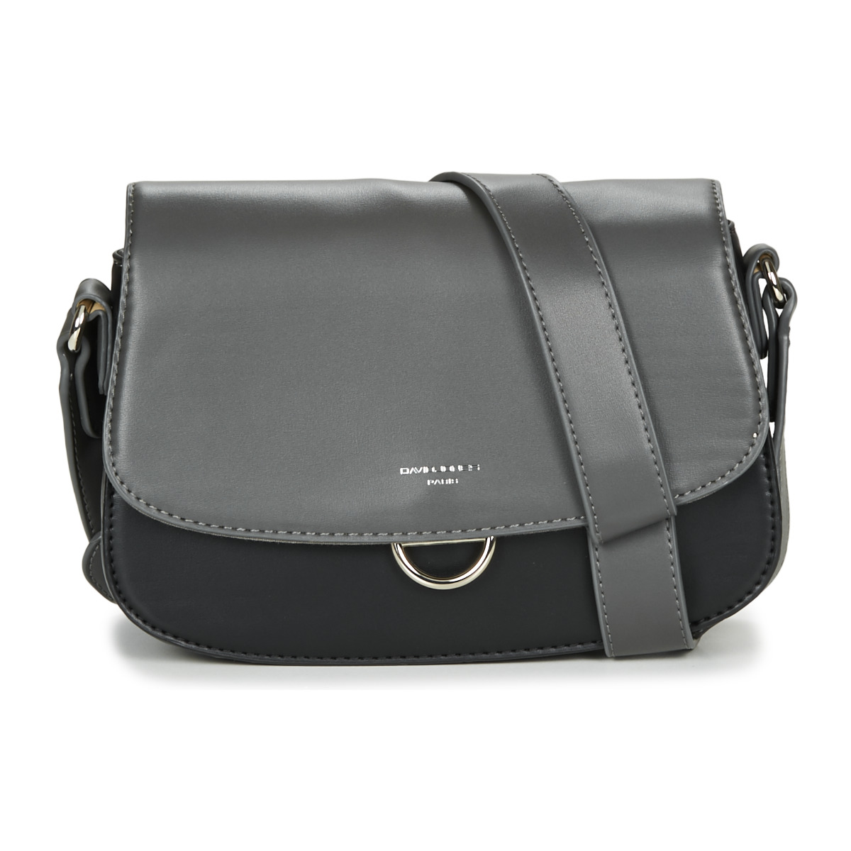 Borsa a tracolla donna David Jones  -  Grigio