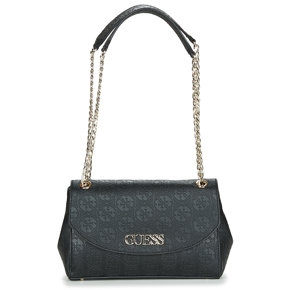 Borsa a tracolla donna Guess  HERITAGE POP CONVERTIBLE CROSSBODY FLAP  Nero