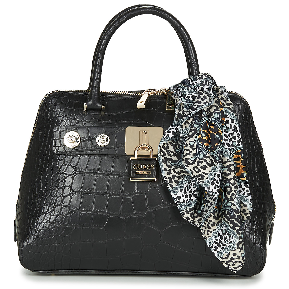 Borsette donna Guess  ANNE MARIE DOME SATCHEL  Nero