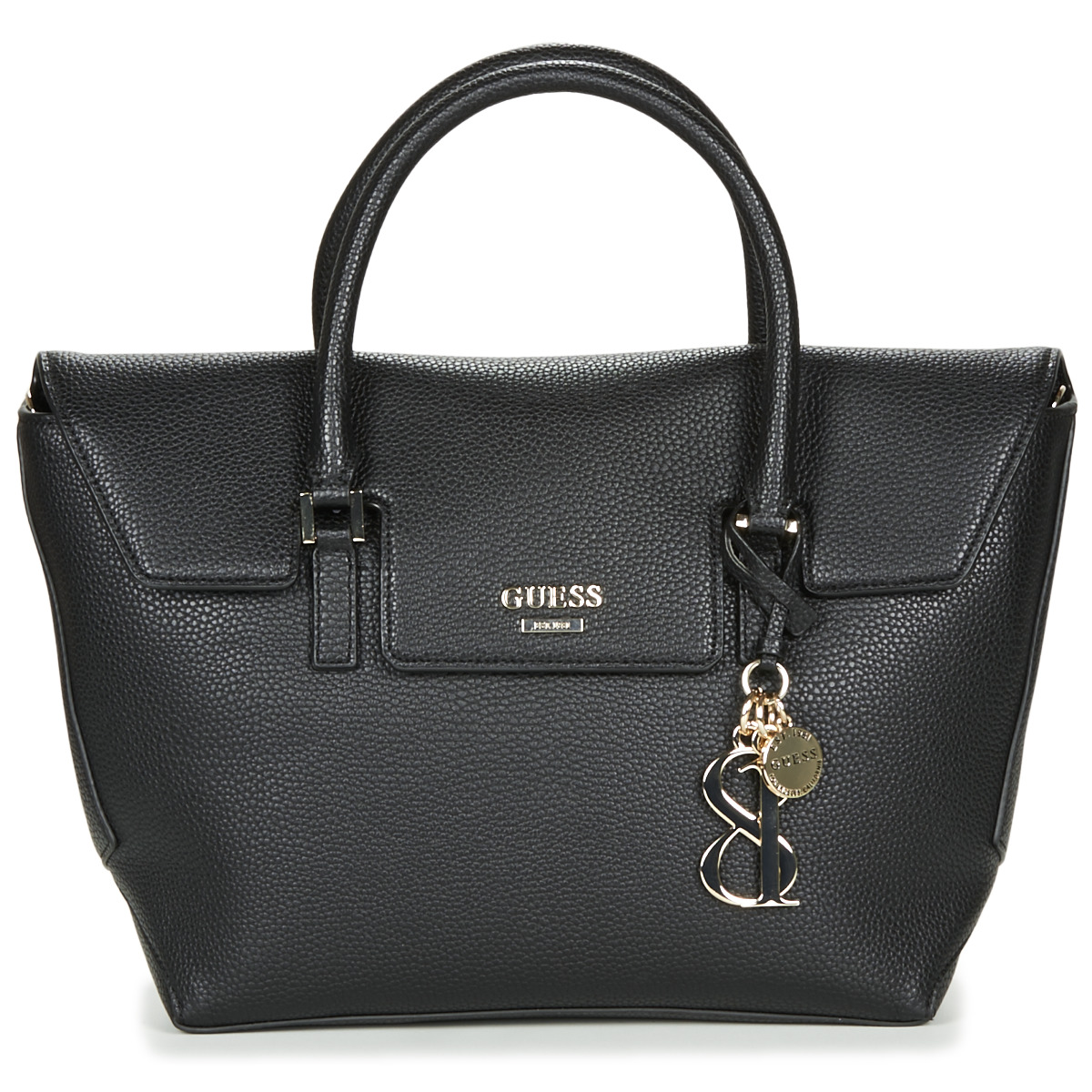 Borsette donna Guess  WEST SIDE FLAP SATCHEL  Nero
