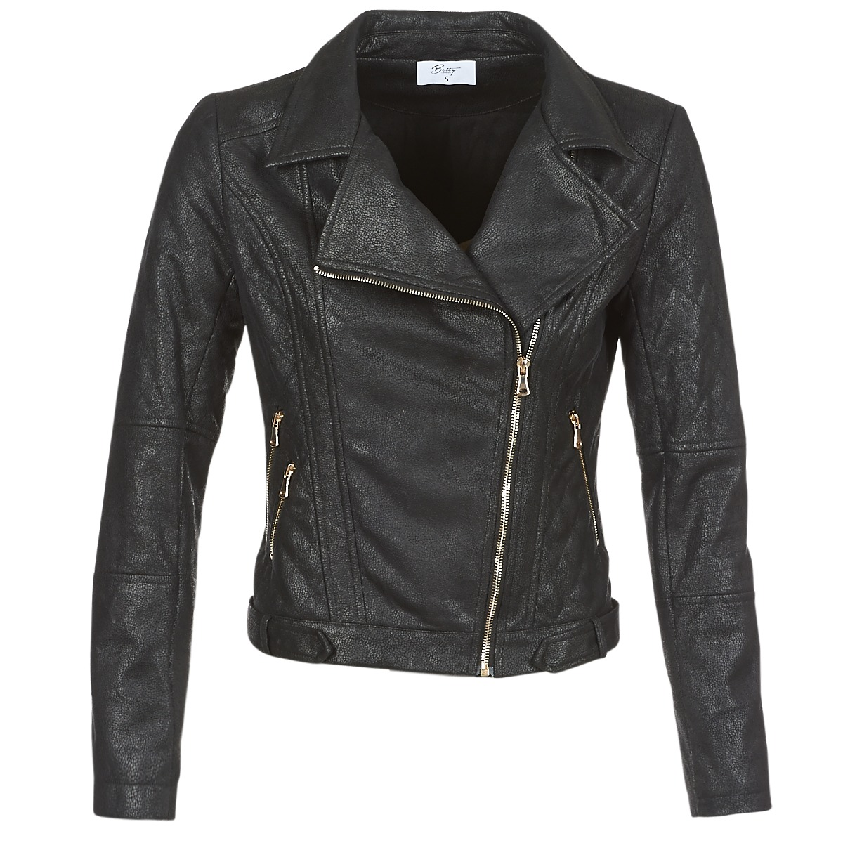 Giacca in pelle donna Betty London  JOLIVE  Nero