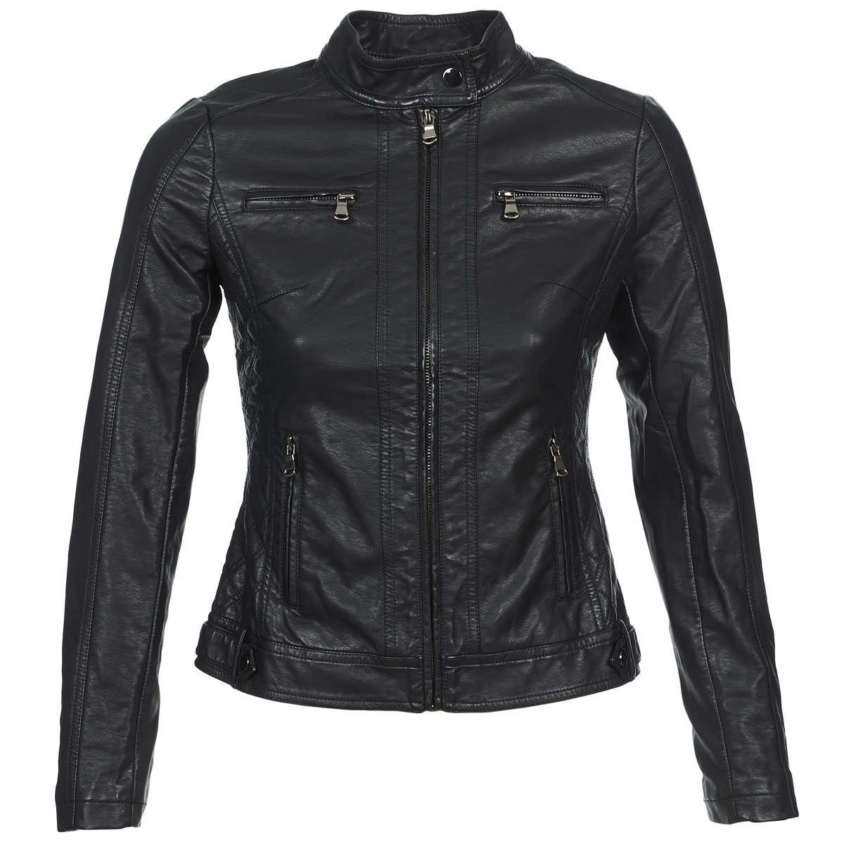 Giacca in pelle donna Moony Mood  IDESCUNE  Nero