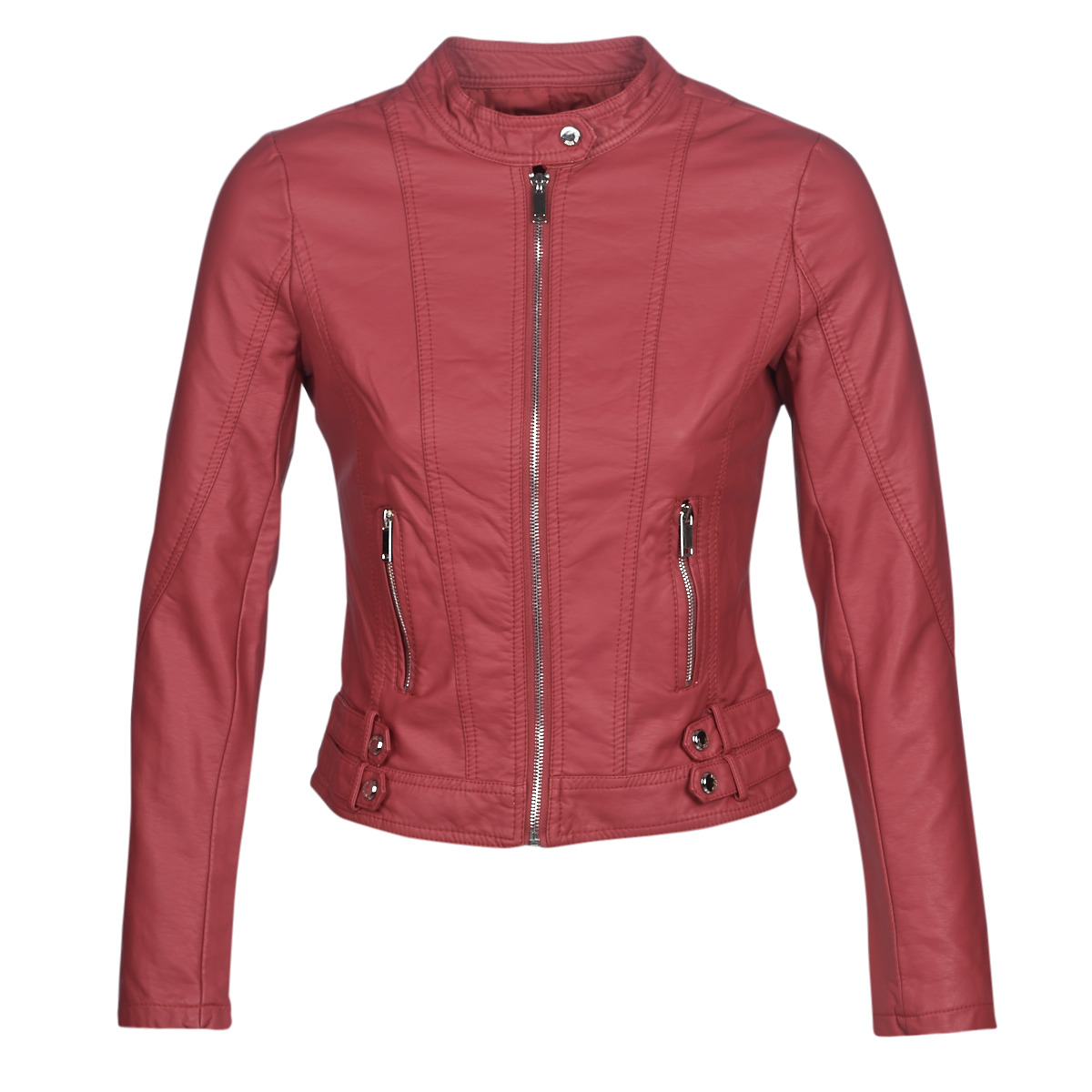 Giacca in pelle donna Moony Mood  KOUJU  Rosso