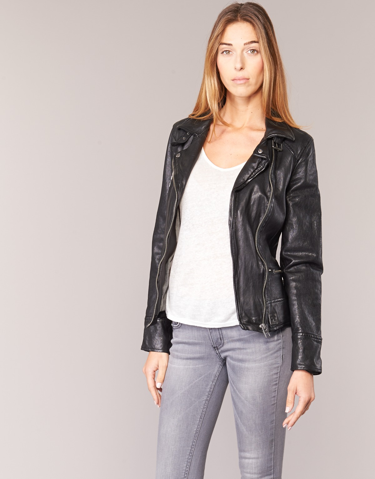 ... Giacca in pelle donna Oakwood VIDEO Nero 491a1a732d8