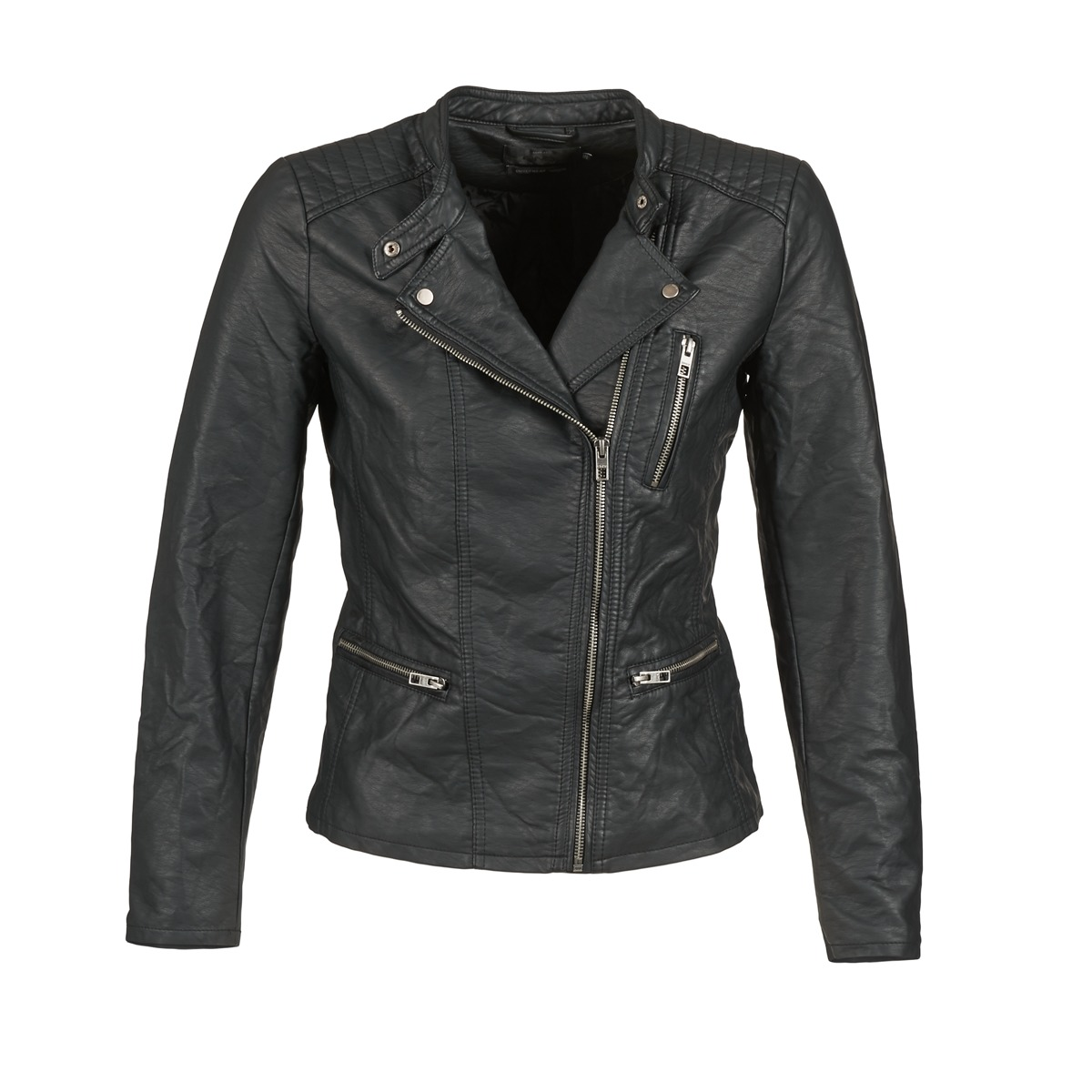 Giacca in pelle donna Only  FREYA  Nero