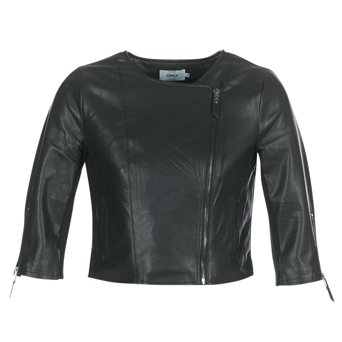 Giacca in pelle donna Only  MILA  Nero