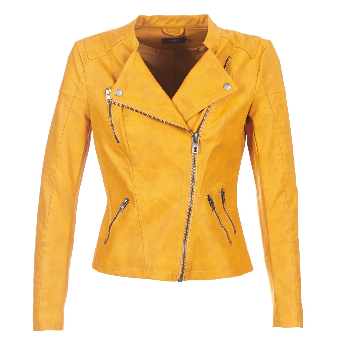 Giacca in pelle donna Only  ONLAVA  Giallo
