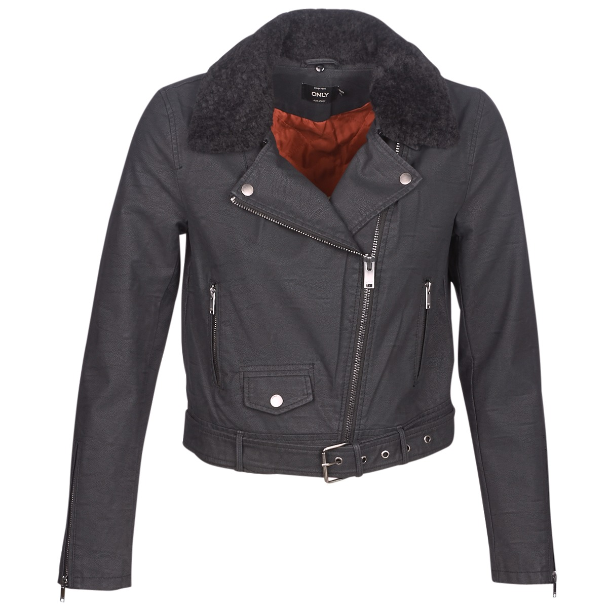 Giacca in pelle donna Only  ONLCAROL  Nero