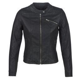 Giacca in pelle donna Only  ONLFLORA  Nero Only