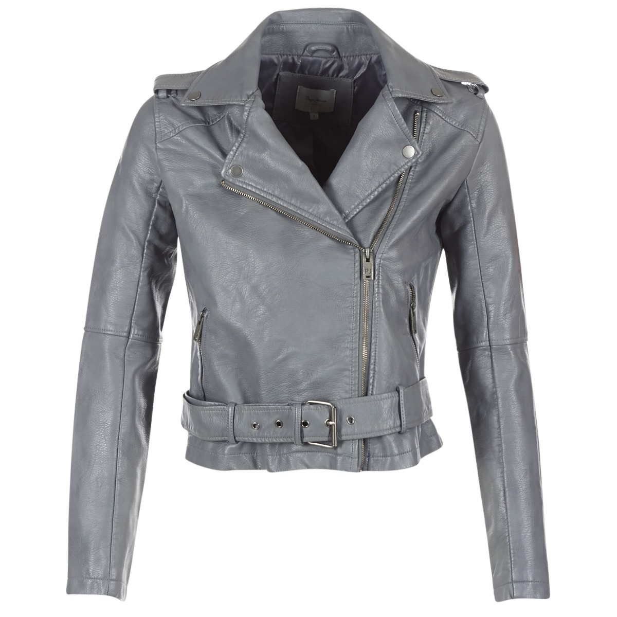 Giacca in pelle donna Pepe jeans  NINEL  Grigio
