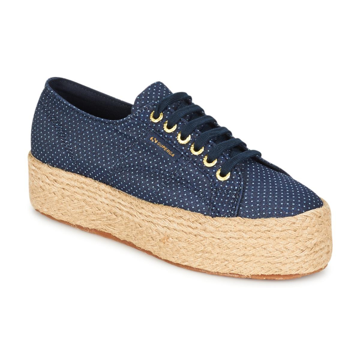 Sneakers Scarpe donna Superga  2790 FABRIC SHIRT TROPEW  Blu