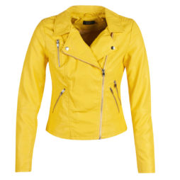Giacca in pelle donna Only  ONLMILEY  Giallo