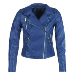 Giacca in pelle donna Only  ONLMILEY  Blu