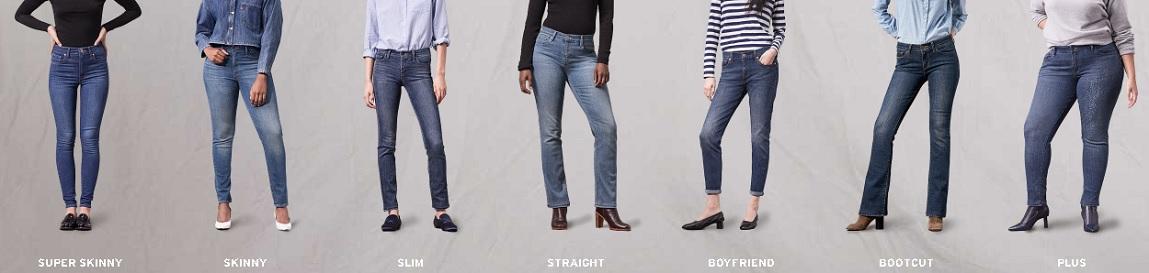 modelli di jeans
