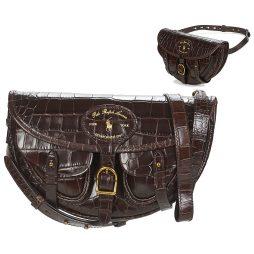 Borsa a tracolla donna Polo Ralph Lauren  HUTTON CONV BELT BAG EMBBOSSED LTHR