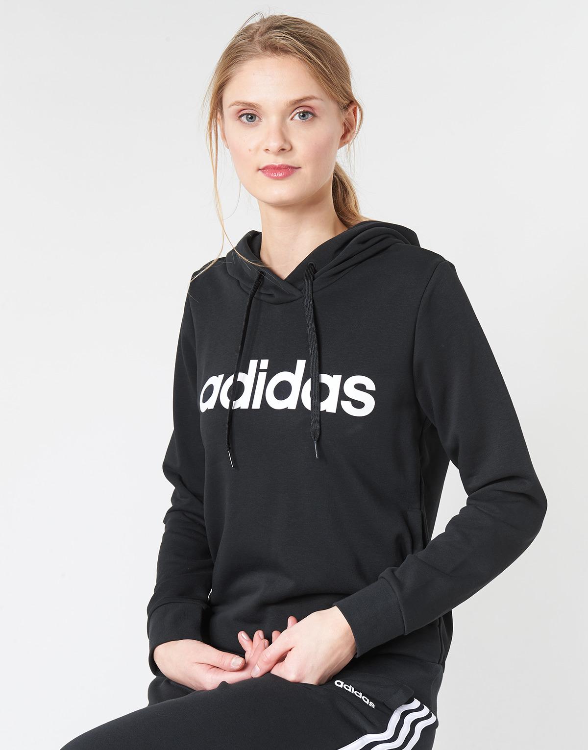 felpa nero adidas donna