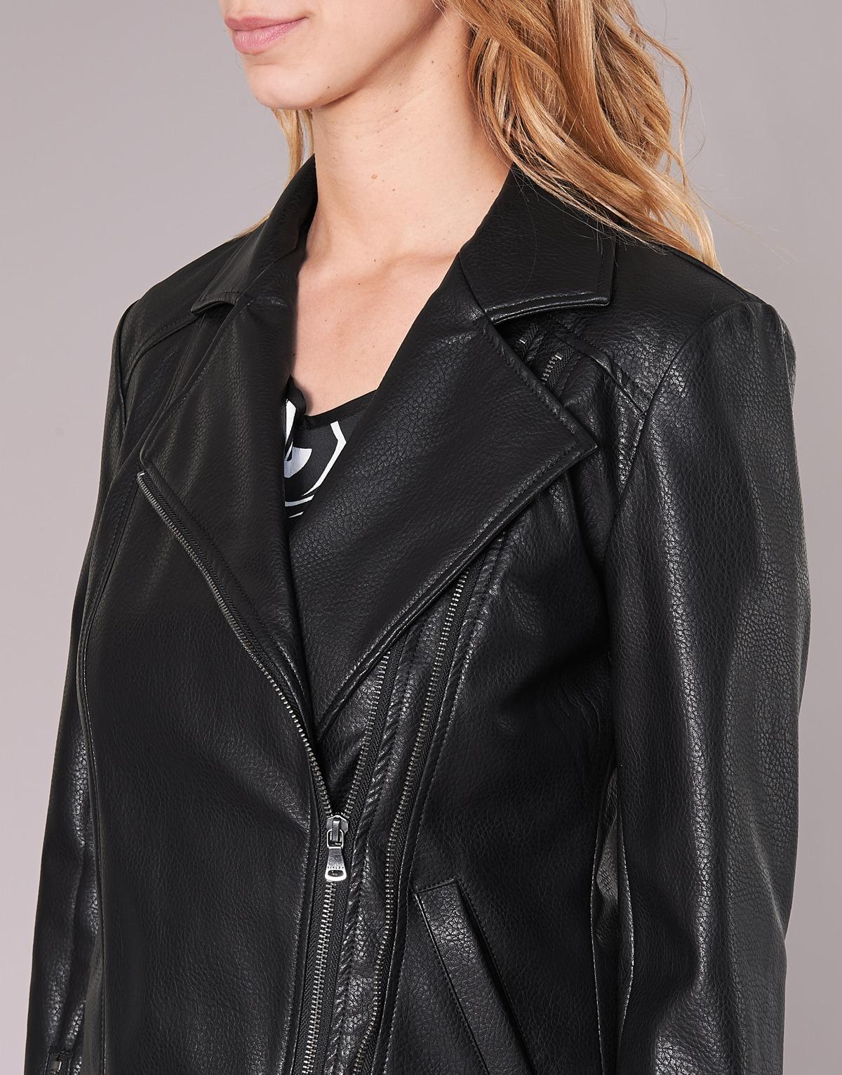 giacca pelle donna sisley