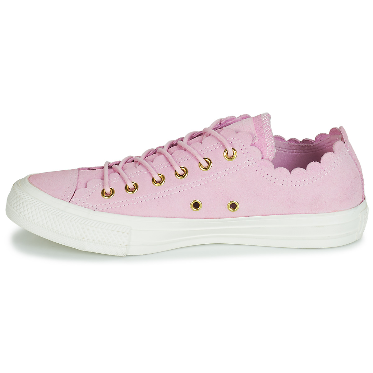 Converse CHUCK TAYLOR ALL STAR FRILLY THRILLS SUEDE OX Rosa 12845796 Consegna Gratuita OutletScarpeOnline.it
