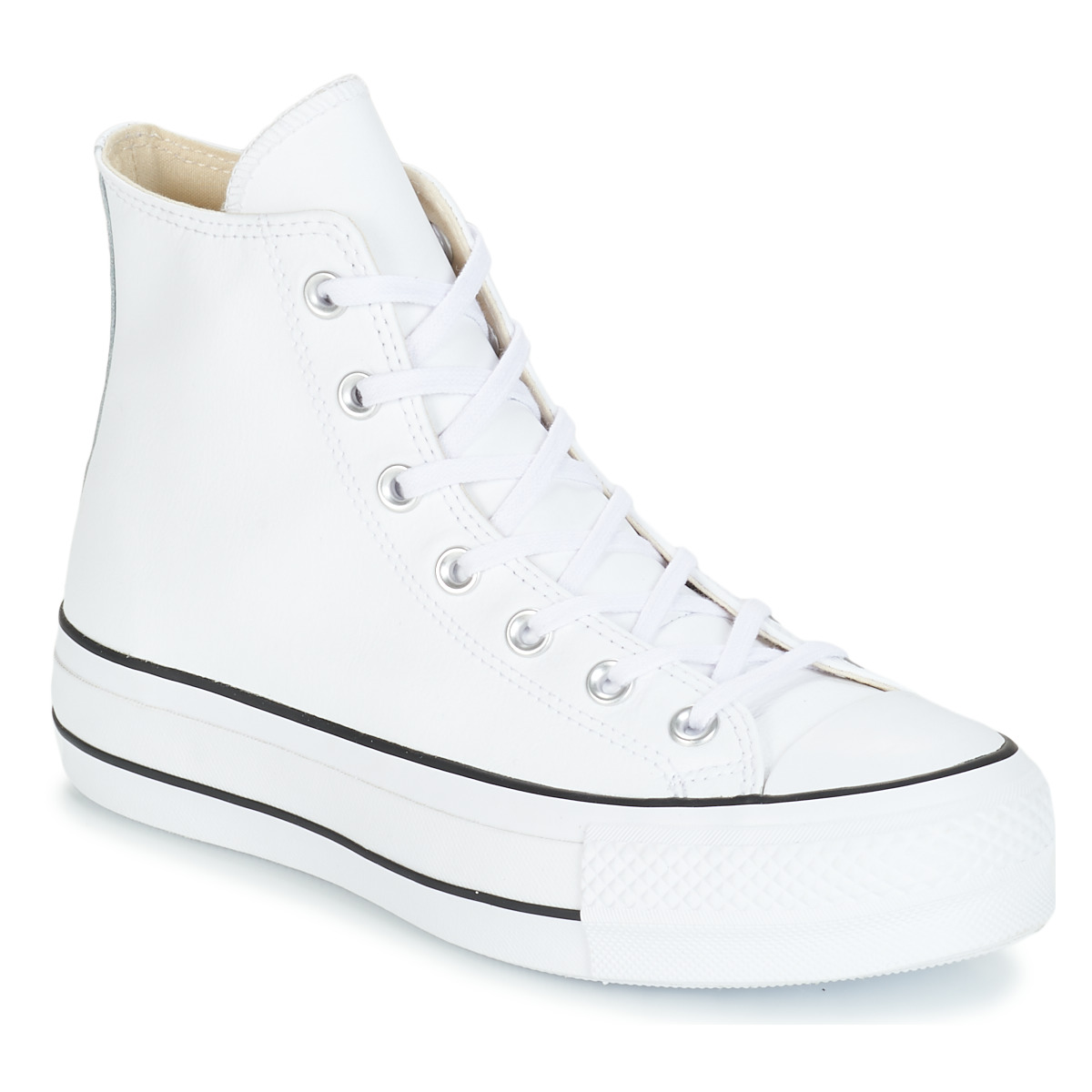 Converse CHUCK TAYLOR ALL STAR LIFT CLEAN LEATHER HI Bianco 8151805 Free Delivery OutletScarpeOnline.it