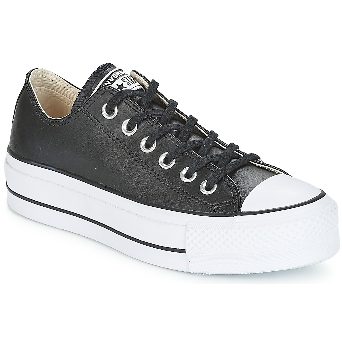 Sneakers basse donna Converse CHUCK TAYLOR ALL STAR LIFT CLEAN OX Nero