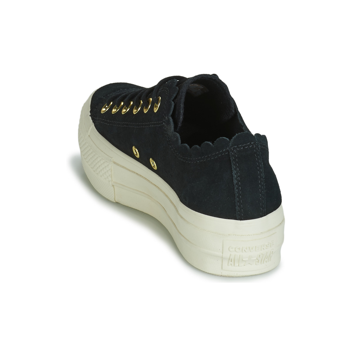 Converse CHUCK TAYLOR ALL STAR PLATFORM FRILLY THRILLS SUEDE OX Nero 12845800 Consegna Gratuita OutletScarpeOnline.it
