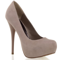 Decollete Donna  Tacco 13 Plateau 3.2 Blush Suede Pleaser Day & Night GORGEOUS-20 GOR20/BHSUE