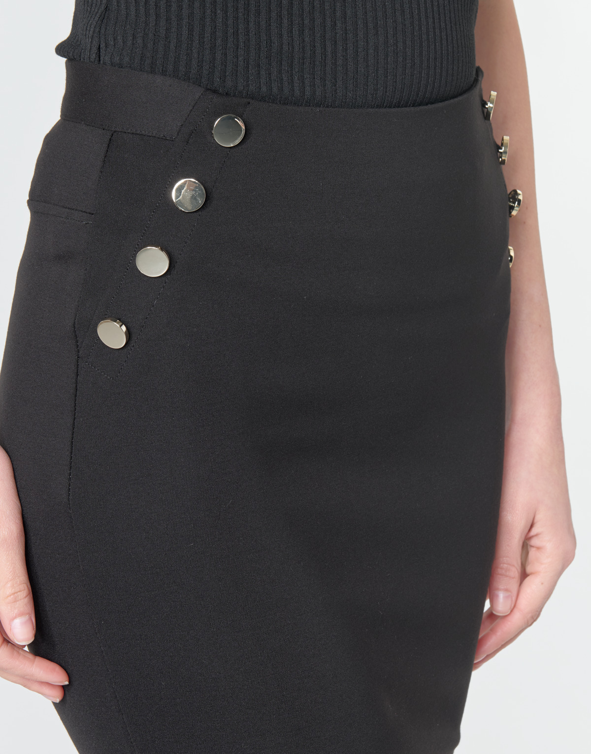 Gonna donna Guess LULA SKIRT Nero