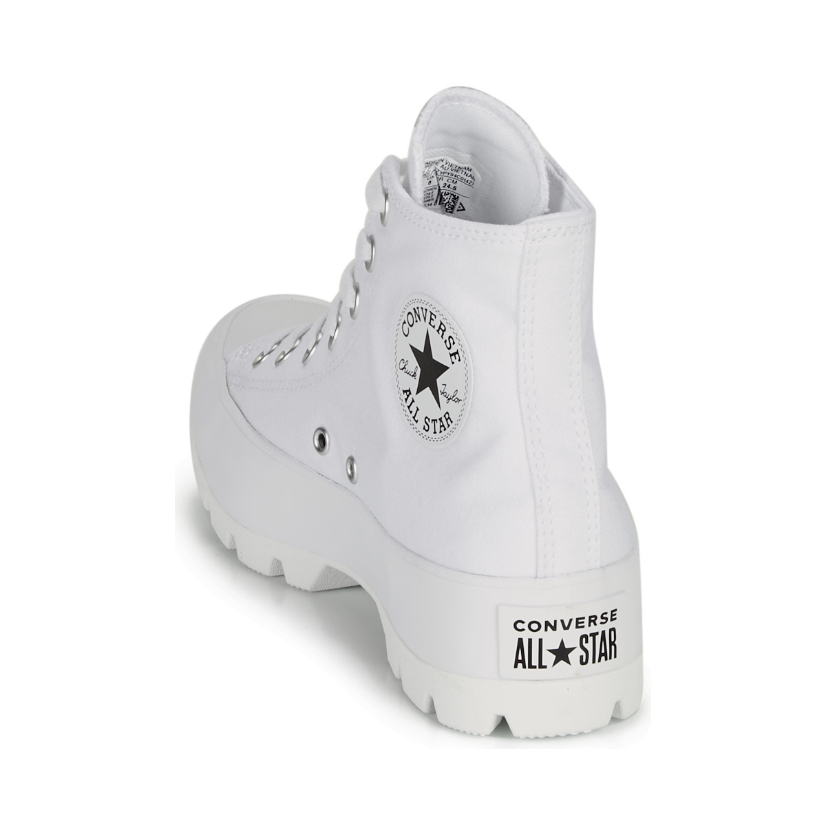 Sneakers alte donna Converse CHUCK TAYLOR ALL STAR LUGGED BASIC CANVAS Bianco