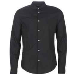 Camicia a maniche lunghe uomo Emporio Armani  6G1C09-1N6RZ-0999  Nero Emporio Armani 8055180675014