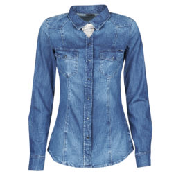 Camicia donna Guess  LALIMA L/S SHIRT  Blu Guess 7618584946084