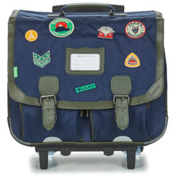 Cartella con rotelle ragazzo Tann's  EXCLU GARCON PATCH TROLLEY CARTABLE 41CM  Blu Tann's 3662498044637