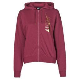 Giacca Sportiva donna Nike  W NSW ICN CLSH FZ FLC  Bordeaux Nike 194499261650
