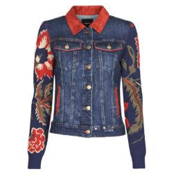 Giacca in jeans donna Desigual  AKRA LEUKA  Multicolore Desigual 8445110083512