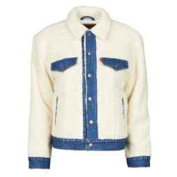 Giacca in jeans donna Levis  EX BF PIECED TRCKR  Bianco Levis 5400898404051